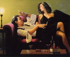 Jack Vettriano After Midnight painting for sale - Jack Vettriano After Midnight is handmade art reproduction; You can shop Jack Vettriano After Midnight painting on canvas or frame.
