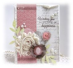 Card by Teresa Kline using Love Story from Verve Stamps. #vervestamps