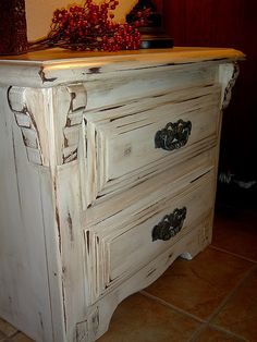 Lush furniture makeover I love the antique look!