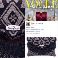 VOGUE ACCESSORY ❤️ #vogue #vogueaccessory #instagood #instafashion #bagstagram #accessory #beautiful #fashion #fw1516 #follow #bags #handmade #madeinitaly #hippychicstyle #fabrics #eivissa #ibiza #Inspiration #love #luxurymag #collection #picoftheday #clutch #ethicfashion #lav #furfreeretailer #news #post #voguemagazine #colors #accessory #madeinitaly #handmade ❤️