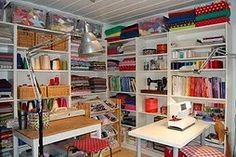 Sewing room inspiration sewing-and-craft-rooms