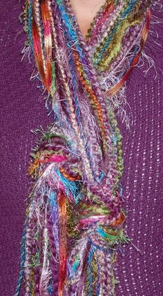 Love these yarn, no sew scarves!