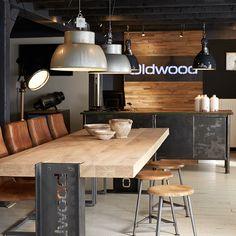 Industriële look bij Oldwood!