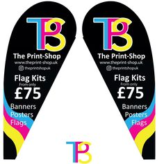 Teardrop Flag kits Hard & Soft ground www.theprint-shop.uk