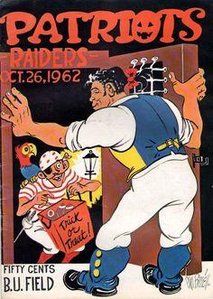 Football Art, Football Memes, Football Program, School Football, Vintage Football, Boston Sports, Nfl Sports, Sports Art, Sports Logos