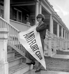 """""""The Anti-Flirt Club was an American club active in Washington, D.C., during the early 1920s. The purpose of the club was to protect young women and girls who received unwelcome attention from men in automobiles and on street corners. The Anti-Flirt Club launched an """"Anti-Flirt"""" week, which began on March 4, 1923."""""""