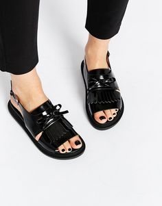 Image 1 of ASOS FANYA Fringe Sandals