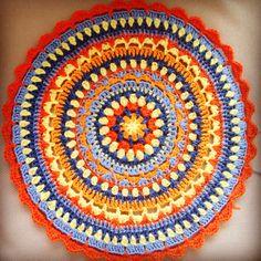 Mandala,crochetpillow