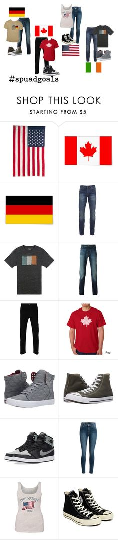 """""""When Your Squad is From Different Countries"""" by universal-mustache ❤ liked on Polyvore featuring Evergreen Enterprises, Scotch & Soda, Lucky Brand, Jacob Cohёn, Gucci, Los Angeles Pop Art, Supra, Converse, NIKE and squadgoals"""