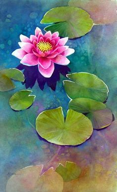 43 Simple And Easy Watercolor Painting Ideas For Beginners - Art and Craft 2020 Lotus Painting, Watercolor Painting Techniques, Easy Watercolor, Watercolor Flowers, Watercolor Paintings, Watercolors, Water Lilies Painting, Watercolor Lotus, Watercolor Beginner