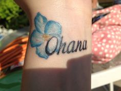 Lilo & Stitch: Ohana. Created by Matt Holt in Rochester, MN. Matt Holt recently opened his own shop: Sacred Heart Studios