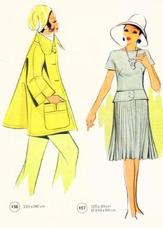 #ClippedOnIssuu from Vintage Lutterloh Sewing Patterns 127 winter 1972