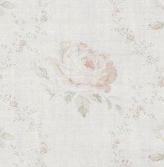 Georgian Roses ~ Antique Powder Pink & Dove on Cream Linen ~ £54pm - Peony & Sage