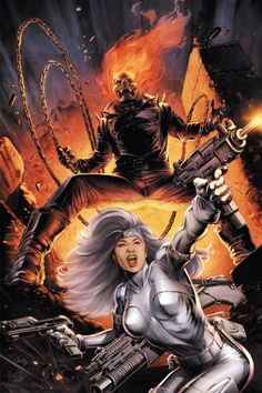 Ghost Rider & Silver Sable