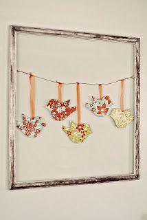 Sewing Sisters: Fabric Bird Wall Art