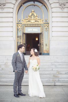 Photography: This Love Of Yours Photography - thisloveofyours.com  Read More: http://www.stylemepretty.com/california-weddings/2014/08/22/san-francisco-city-hall-elopement-4/