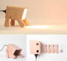 Eine Nachttischlampe mit Jöö Effekt