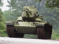 Restored M60A2 Patton Military Tank. The tank the Russians thought was much better than it actually was.