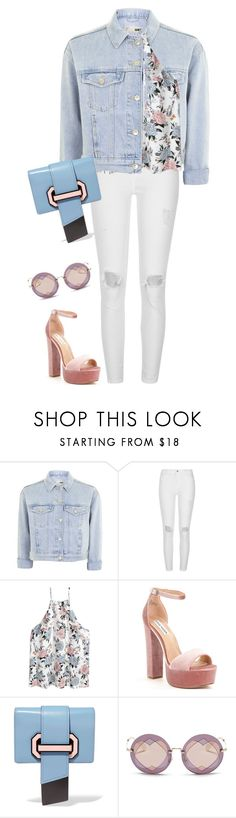 """""""Untitled #3522"""" by elia72 ❤ liked on Polyvore featuring Topshop, River Island, Steve Madden, Prada and Miu Miu"""