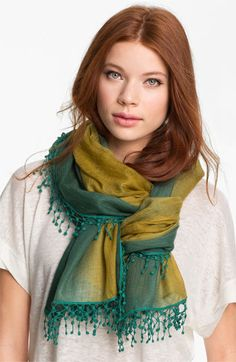 La Fiorentina 'Ombré Lace' Cashmere Scarf available at #Nordstrom