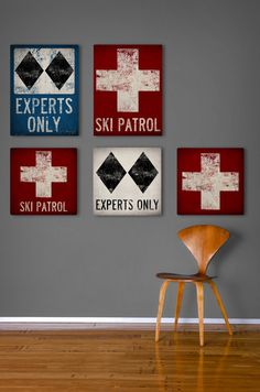 Choose 1 piece  SKI PATROL Black Diamond by nativevermont on Etsy, $75.00