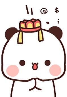 Panda Gif, Animated Gif, Hello Kitty, Animation, Stickers, Fictional Characters, Art, Art Background, Kunst