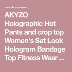 AKYZO Holographic Hot Pants and crop top Women's Set Look Hologram Bandage Top Fitness Wear Laser festival Tank Top on sale at reasonable prices, buy AKYZO Holographic Hot Pants and crop top Women's Set Look Hologram Bandage Top Fitness Wear Laser festival Tank Top from mobile site on Aliexpress Now!