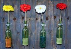 Otra manera de reutilizar las botellas de vino vacías
