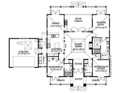 hawaiian plantation style floor plan - Google Search