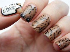 I am Groot! nails by on Nail Art Gallery Marvel Nails, Avengers Nails, Colorful Nail Designs, Cute Nail Designs, Art Designs, Nail Art Dessin, Superhero Nails, Bright Colored Nails, Watermelon Nails