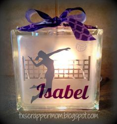 Tx Scrapper Mom: Volleyball Light Box for Hailey! Volleyball Crafts, Volleyball Locker, Volleyball Party, Volleyball Shirts, Volleyball Drills, Volleyball Quotes, Coaching Volleyball, Volleyball Ideas, Volleyball Decorations