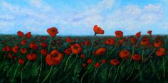 Field of Remembrance, Acrylic on Canvas, 12 x 24 inches, Framed. $400 Cdn Copyright Wendie Donabie 2013