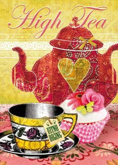 High Tea - I love this colorful design!