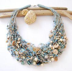 Per creare gioielli etnici meglio usare il cotone ed il lino. I materiali naturali sono i più comodi per il lavoro. E' abbastanza semplice fare decorazioni da soli e quardate come belli sono! 40 idee per la creazione di gioielli con filo di lino
