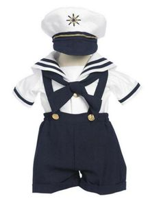Navy Sailor  Short  Suit