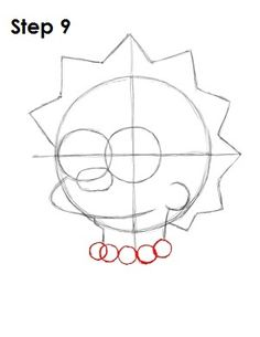 How to Draw Lisa Simpson Trippy Drawings, Cool Art Drawings, Easy Drawings, Drawing Sketches, Pencil Art Drawings, Lisa Simpsons, Simpsons Cartoon, Step By Step Painting, Step By Step Drawing