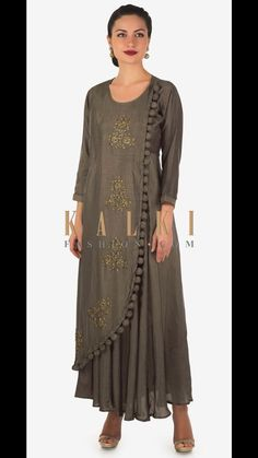 Muslin kurti with great embroidery. It's simple but Hit