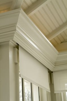 Blinds built into crown