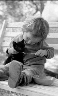 22 Ideas cats black and white photography children Animals For Kids, Animals And Pets, Baby Animals, Cute Animals, Cat Photography, Vintage Photography, Children Photography, Boy Best Friend, Best Friends