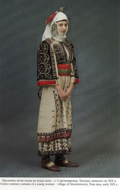 Europe | Portrait of a woman wearing a traditional dress, Strezimirovtsi, Bulgaria #embroidery