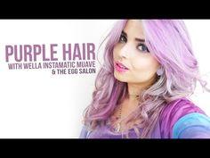 Purple Hair Ft. The Egg Salon & Wella Instamatic - YouTube