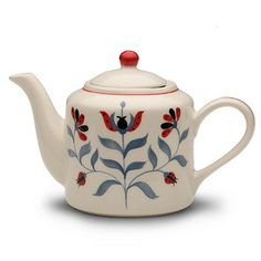 Folk Flower Teapot