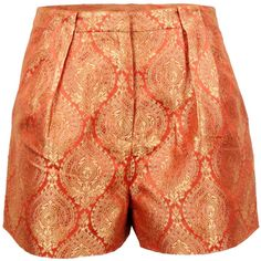 Elizabeth and James Stevie Jacquard Short (4.930 RUB) ❤ liked on Polyvore featuring shorts, bottoms, pants, orange, short shorts, elizabeth and james, elizabeth and james shorts, orange shorts и jacquard shorts