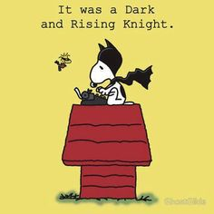 It was a dark and rising knight...