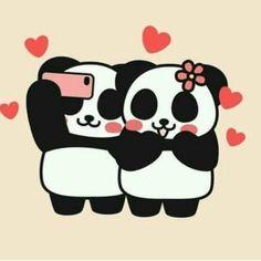😘the breakfast one is cute! Totally us. Panda Art, Red Panda, Panda Panda, Happy Panda, Panda Wallpapers, Cute Wallpapers, Panda Kawaii, Animals And Pets, Cute Animals