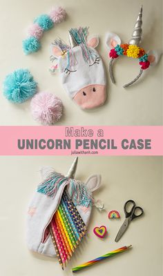 BACK TO SCHOOL - Make a Unicorn pencil case. A whimsical pencil case to start the year right. - DIY - Juliawithanh.com