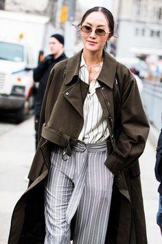 b5fe21c153 S A I N T • L A U R E N T · Street style à la Fashion Week automne-hiver  2018-2019 de New York