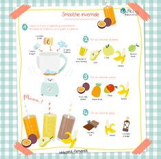 Winter smoothies - With this grayish weather, nothing better than a good smoothie to cheer up! Find all our recipes on - Winter Smoothies, Smoothies For Kids, Good Smoothies, Smoothie Recipes With Yogurt, Yogurt Smoothies, Strawberry Smoothie, Healthy Toddler Breakfast, Healthy Breakfast Smoothies, Healthy Drinks
