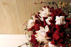 Burgundy & Cream - keepsake wedding bouquet | Thea Starr Seattle Kimono Fabric, Vintage Kimono, Wedding Keepsakes, Wedding Things, Fabric Flowers, Special Day, Etsy Store, Wedding Bouquets, Seattle