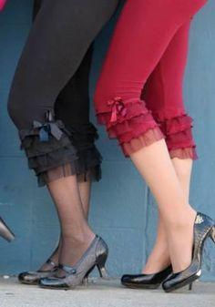 Pantaloons..ruffled leggings wear underneath skirts and long sweaters.